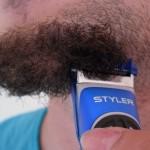 unrasierter Bart vor Rasierertest